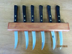 STEAK KNIVES 6 ROBINSON STAINLESS PREMIUM usa MADE-reduced