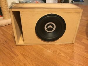 10 inch bazooka subwoofer in enclosure