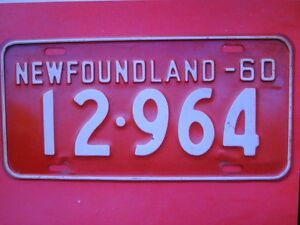 NFLD LIC. PLATE