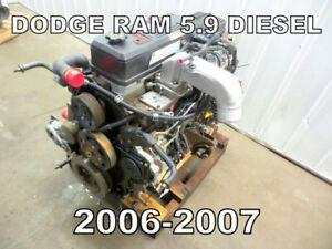 MOTEUR 5.9 DIESEL DODGE RAM 2006-2007  TÉL: 514-247-5757