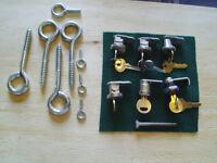 Eyebolts, Cabinet locks & Lag bolts