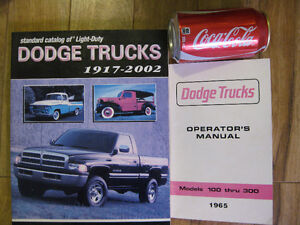 livre dodge truck camion  operator's manual 1965