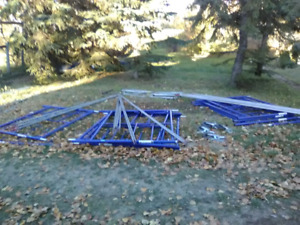 Scaffolding, generator and table-saws for sale.