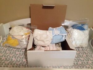 Old cloth diapers