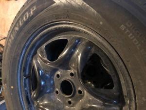 4 pneus d'hiver et jantes Dunlop winter maxx sj8