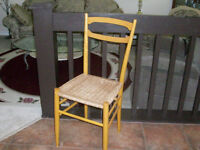 Chair with woven cane seat