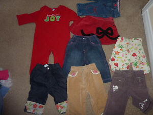 Brand name girl clothing, sizes 3m to 4T $ 2/item