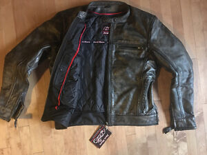 Reduced David Moore Leather Jacket (L) NWT