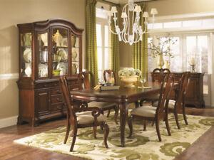 CLASSIC LOUIS PHILIPPE AUBURN DINING ROOM SET