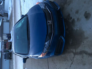 2015 Honda Civic Blue Coupe (2 door)
