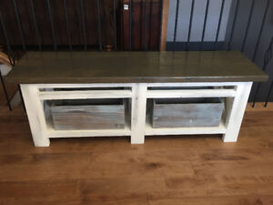Wooden bench for sale.