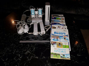 Ninteno Wii Console and accessories