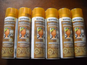 Can Rust-Oleum Concrete Stain Burnished Gold Spray Paint