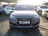 2014 Audi Q7 TDi V8 4.2 340 Quattro Tip Auto S Line SUV Diesel Automatic