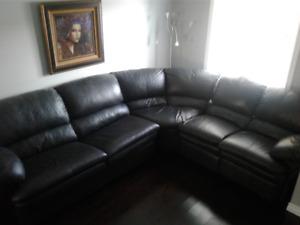Sectional Full leather
