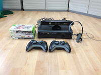 Xbox 360, 120 GB, Kinect, 2 manettes, 6 jeux, casque Audio/micro