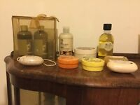 The Body Shop shower gels, body butter, soaps all unused plus 5 lip balms see pictures sell £20