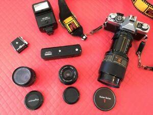 Minolta XG7 35mm SLR Camera, Lenses, Flash & Winder
