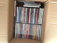 box of assorted cd