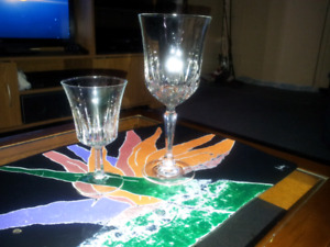 Pinwheel Crystal Glasses