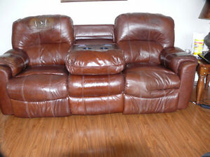 recliner leather chesterfield