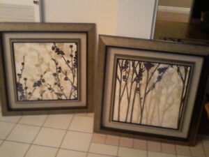 Large glass framed art