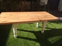 Solid shabby chic coffee table
