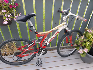 Specialized Rock Hopper mountain bike with fox shocks