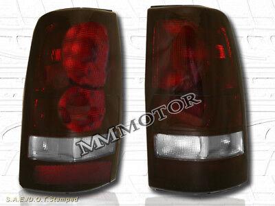 99-02 CHEVY SILVERADO 99-03 GMC SIERRA 1500 2500 PICKUP TAIL LIGHTS DARK RED  Chevy Silverado 1500 Pickup Tail