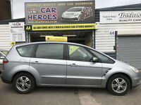 2007 FORD S-MAX 2.0 TDCI ZETEC 6G 143 BHP 7 SEATER * 12 MONTH WARRANTY INCLUDED