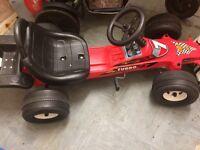 Boys pedal racing car