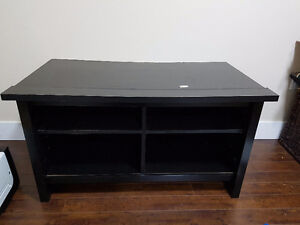 Black TV Stand with Shelves