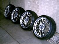 Ford MS Design 20 inch alloy wheels and tyres. Fit Mondeo, Focus, Transit connect.