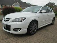 08/58 MAZDA 3 MPS 2.3I TURBO DISI 5DR HATCH IN PEARL WHITE