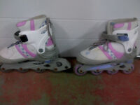 KIDS GIRLS ULTRA WHEELS ROLLERBLADES WITH BRAKES