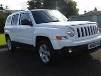 Jeep Patriot 2.2 CRD Limited in rare white with black leather seats 60 plate