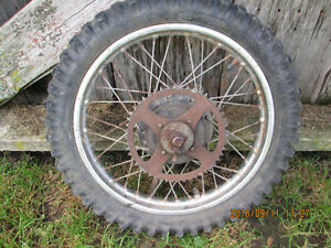honda xr100 rear wheel assembly 1984