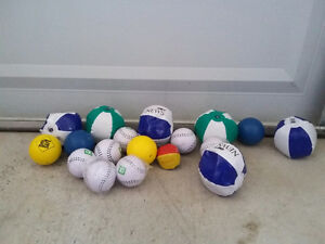 Lot of assorted inflatable balls and soft balls NEW London Ontario image 2
