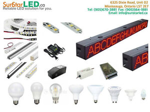 LED STRIP, LED DISPLAY, LED LIGHT BOX, POWER SUPPLY, LED BULBS W