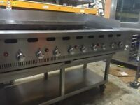 Hobart Bonnet Charbroiler Gas Chargrill on stand 1500mm