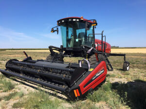 MacDon M105 Windrower with A40D-16 Hay Header