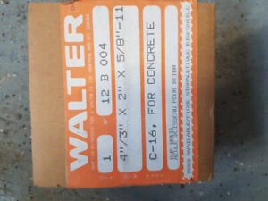 Walter Angle Grinder Four HP Cup Wheels for Concrete