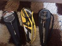 Badminton rackets x3