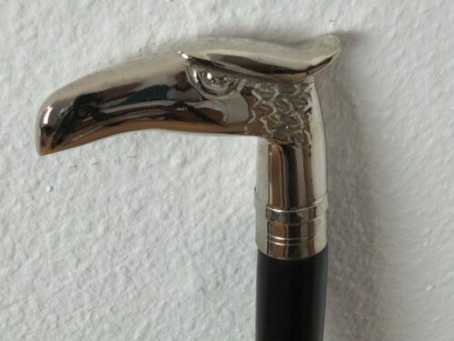 "Eagle Brass Head Walking Stick Classic Style 37"" Wooden Cane Walking Sticks"