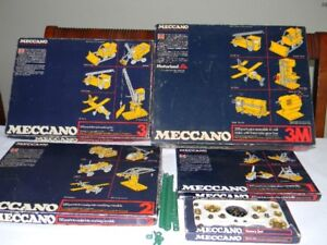 Vintage Very Collectible Mid 1970's Meccano Sets.