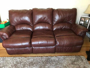 Leather Reclining Couch-Like New!