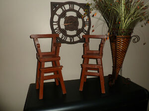 Pair of Antique Doll High Chairs for Sale