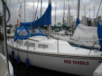 27 Catalina sailboat Tiller /outboard