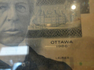 One of a Kind Collectible $5.00 bill stuck between Plexiglass Kitchener / Waterloo Kitchener Area image 4
