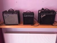 Amps amplifier Fender £70 for all three or £30 each vgc